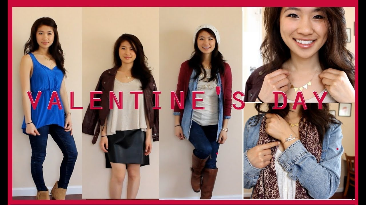 Casual Cute Valentine S Day Outfit Ideas Youtube