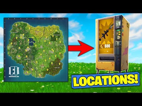 *ALL* VENDING MACHINE LOCATIONS In Fortnite Battle Royale!