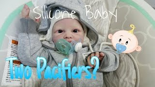 GIANT SILICONE BABY TRIES PACIFIERS AND BOTTLE! TAKES FULL NIPPLES! HUGE LIFE LIKE BABY DOLL!
