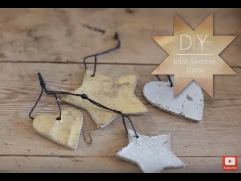 DIY: Christmas ornaments with leaf metal by Søstrene Grene