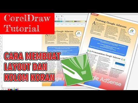 coreldraw - how to make a layout and newspaper column - YouTube