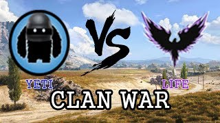 WOT Clan War SEA : YETI vs LIFE Steppes Def
