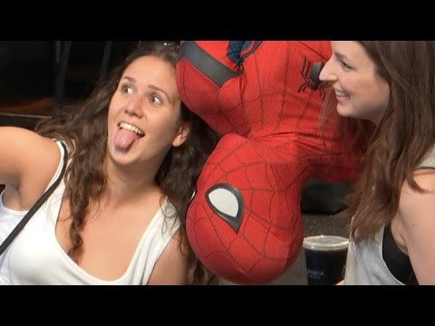 Watch Spider-Man Scare Unsuspecting Starbucks Guests in New Viral Video Prank!