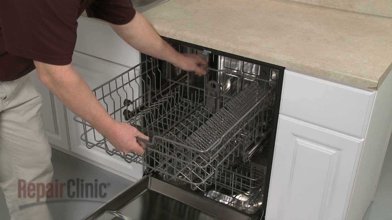 & LG Dishwasher Replace Upper Dish Rack Assembly #3751DD1005B - YouTube