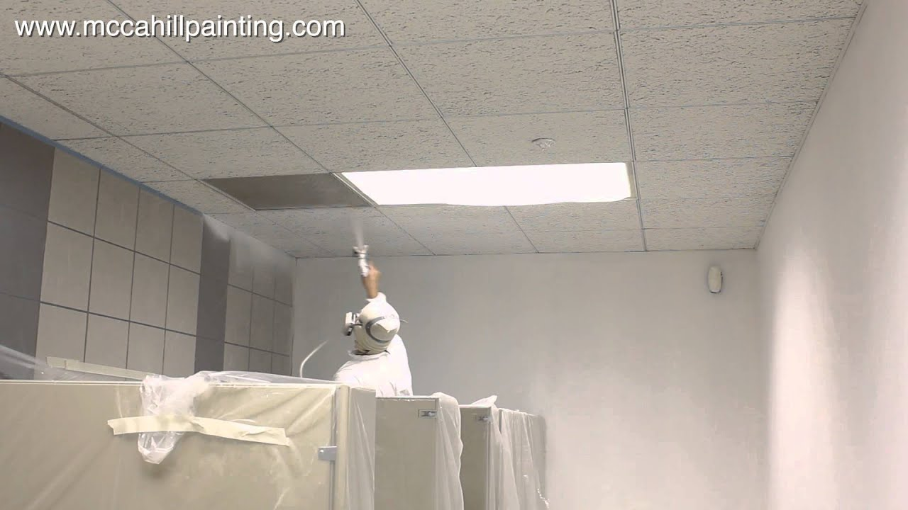 Coating acoustical ceilings in chicago il area youtube dailygadgetfo Image collections