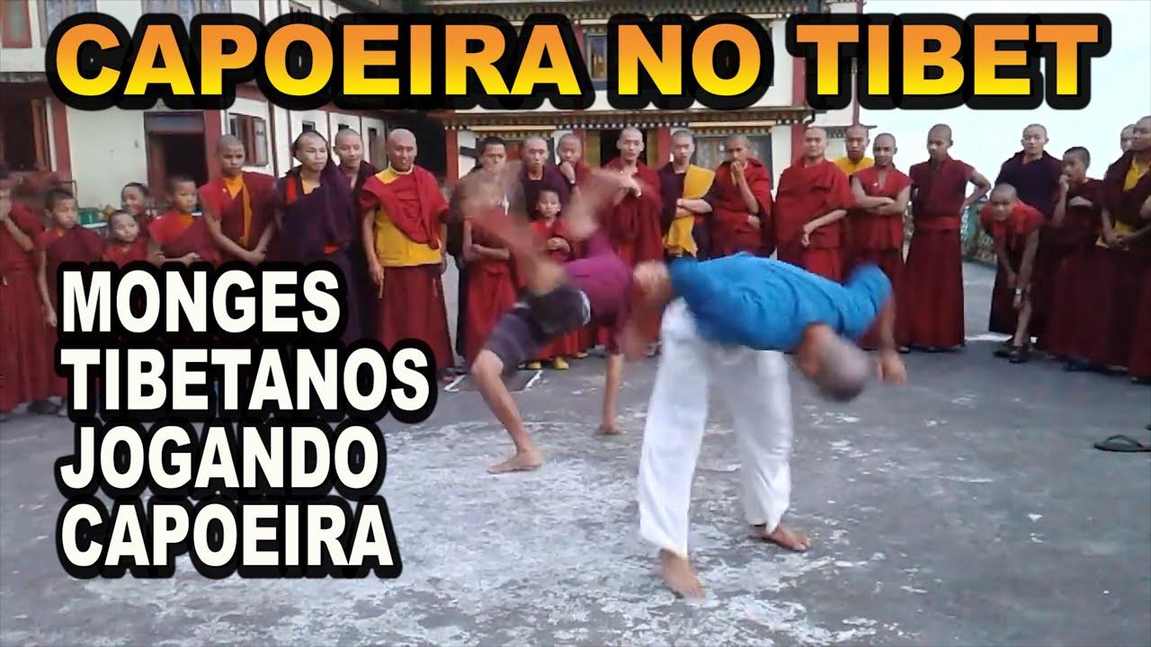 Roda de capoeira com Monges Tibetanos na china (Capoeira ganhando o mundo)