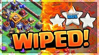 $1,000 BASES - THREE STARRED! Clash of Clans Builder Hall WIPEOUT! thumbnail