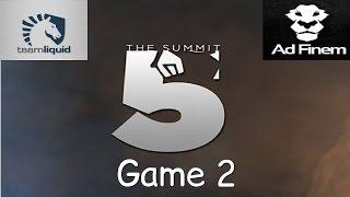 liquid vs ad finem game 2 the summit 5 qf highlights