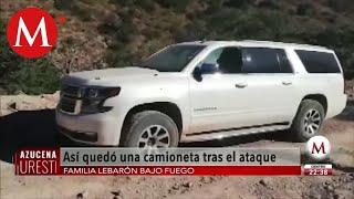 Así quedó camioneta tras ataque a la familia LeBarón