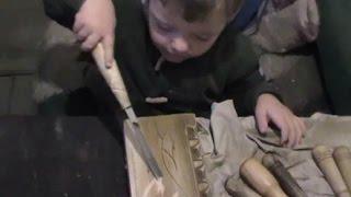 2 х летний ученик, школа резьбы по дереву, уроки, обучения и советы, часть 2