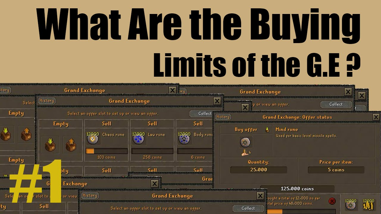 [OSRS] What are the buying limits of the grand exchange?? [ Episode #1 ] A  BRAND NEW SPREADSHEET!