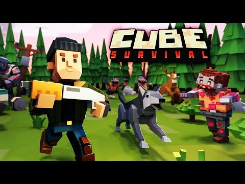 НАРВАЛСЯ НА ЛЕСНОГО ЗОМБИ ЖИРДЯЯ Мульт игра про выживание с ЗОМБИ в КУБИЧЕСКОМ МИРЕ Cube Survival