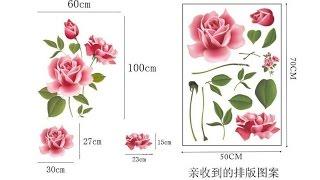 Наклейки на стену 3D Розы [+оклейка AliExpress]
