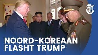 Gênant moment Trump en Noord-Koreaanse generaal
