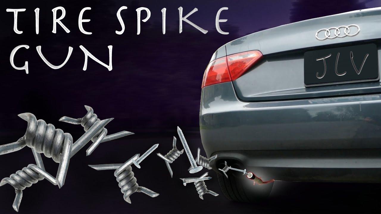 DIY $20 TIRE SPIKE GUN?!?! - INSANE Car Hack (007 SPY GADGET)
