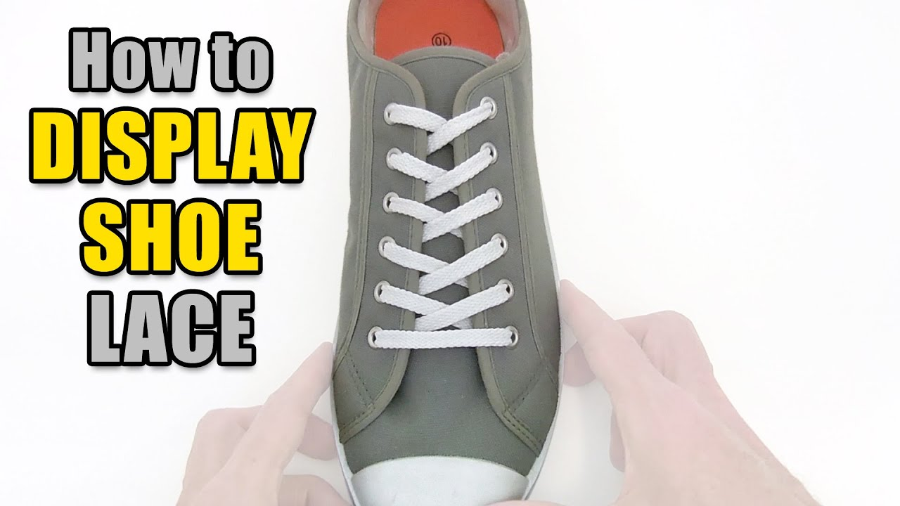 da50799c799a How to Display Shoe Lace your shoes – Professor Shoelace - YouTube