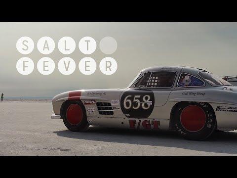 Mercedes 300SL Gullwing at Bonneville Gives Us Salt Fever