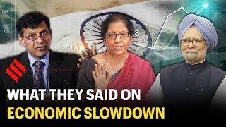 Raghuram Rajan vs Nirmala Sitharaman vs Manmohan Singh   Arguments on Indian economic slowdown
