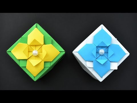Nice ORIGAMI GIFT BOX out of Paper Tutorial DIY