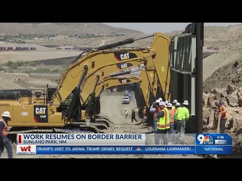 Privatly funded border barrier in Sunland Park is expected to be completed on Thursday.