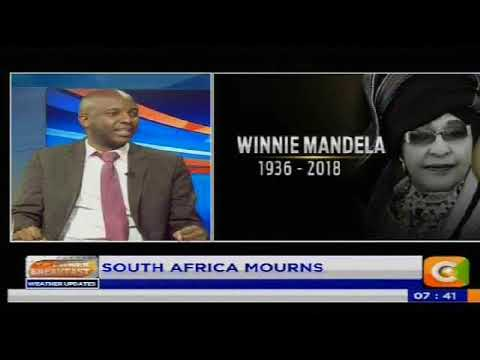 Power breakfast: News Paper Review:South Africa Mourns.