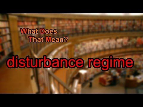 What does disturbance regime mean?