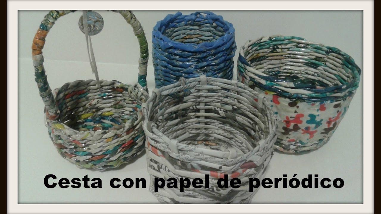 Cesta con papel de peri dico newspaper box youtube - Cesta de papel de periodico ...
