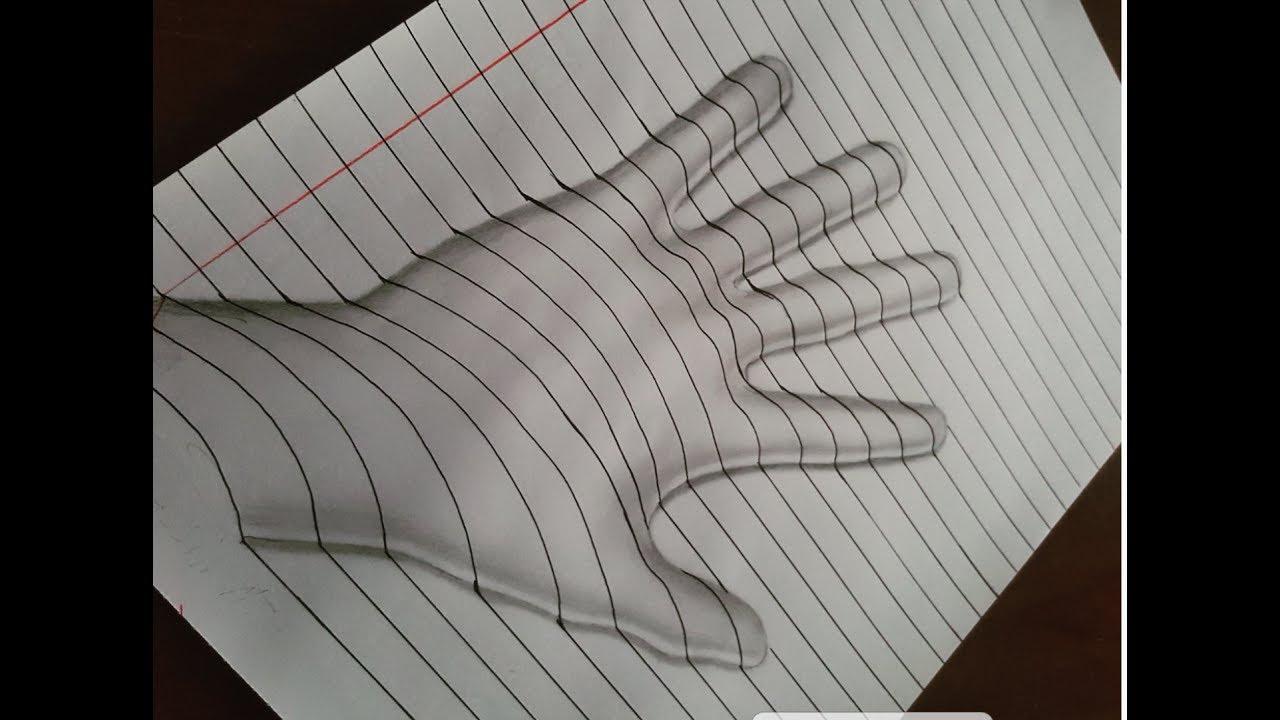 رسم يد ثلاثية الابعاد Drawing Hand 3d Youtube
