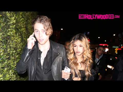 Luke Hemmings & Arzaylea Arrive To The CAA Pre-Grammy Party At Hyde Nightclub 2.11.17