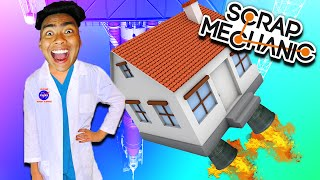 BUILDING A FLYING HOUSE! | Scrap Mechanic #3