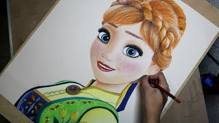 Speed Drawing: Anna (Frozen Fever) | Diana Díaz