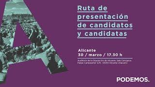 Ruta de presentación de candidatos y candidatas en Alicante