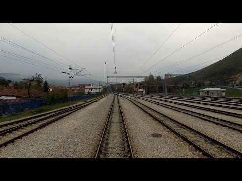 Train cab ride Bulgaria: Dimitrovgrad (Serbia) - Dragoman (Bulgaria) [cross border railway]