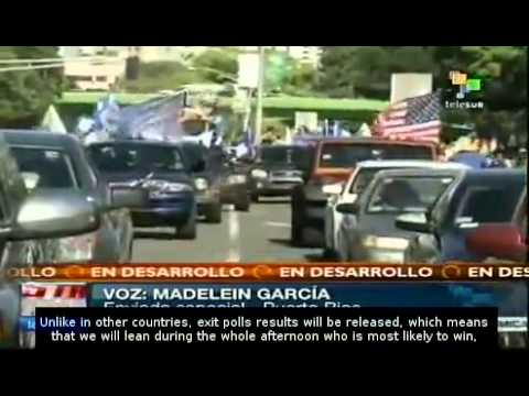 Puerto Ricans Vote for Governor and on US Territorial Status