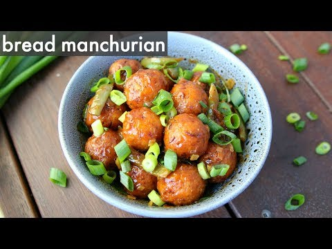 bread manchurian recipe | ब्रेड का मंचूरियन | dry bread manchurian – leftover bread recipes