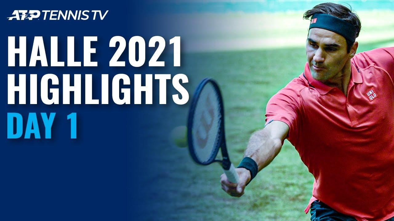 Federer faces Ivashka; Bautista Agut, Korda & Goffin In Action | Halle 2021 Highlights Day 1