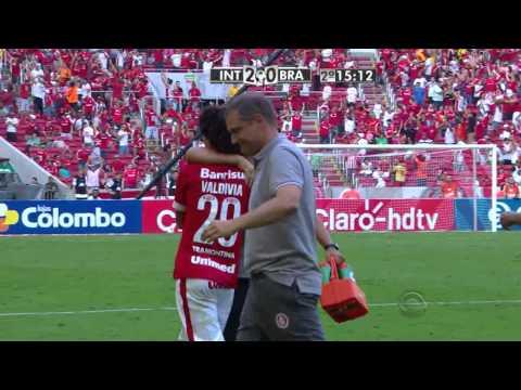 GOL DO VALDÍVIA! INTER 3x1 Brasil-RS