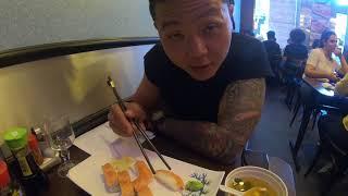Vlog 4| Суши в Париже| И в Париже есть некачественные суши! Все полетело в мусорку!