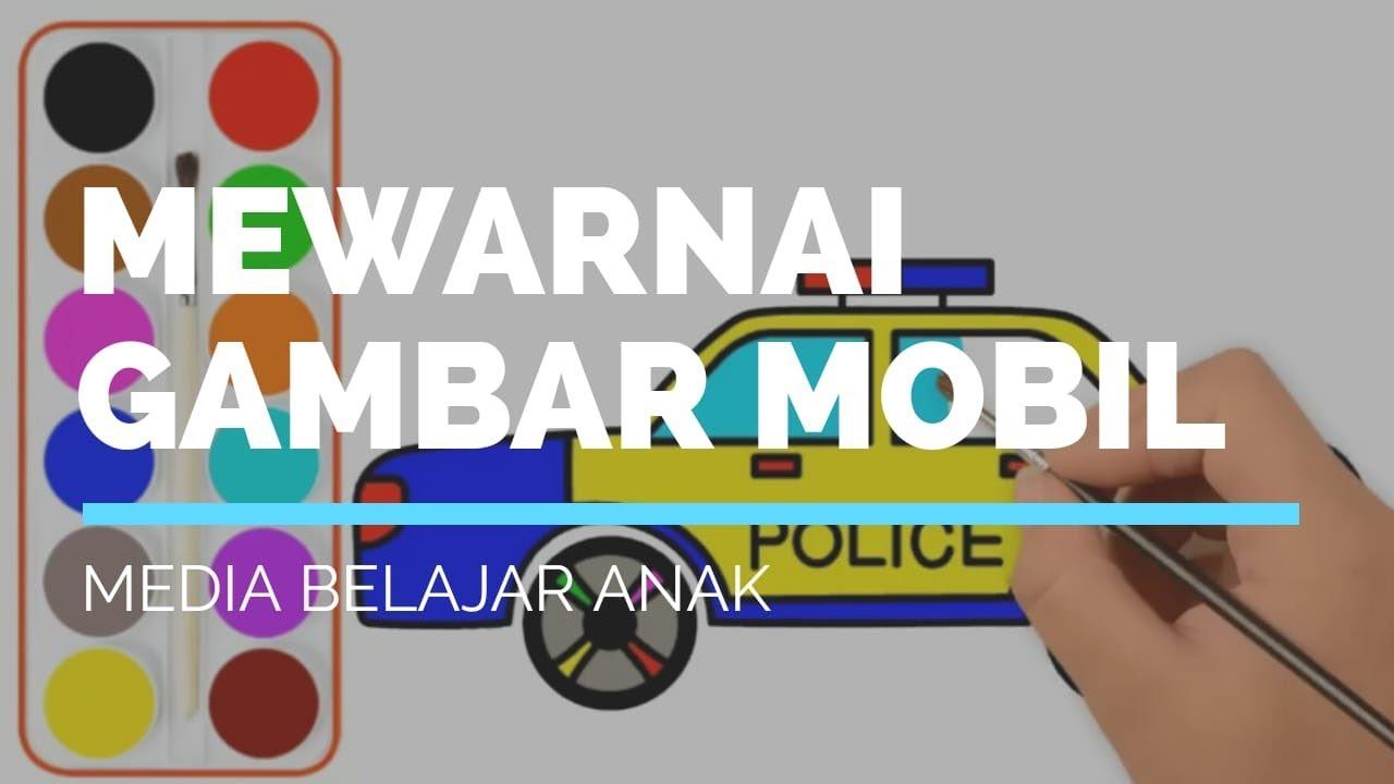 Belajar Gambar Dan Mewarnai Gambar Mobil Polisi Halaman Mewarnai