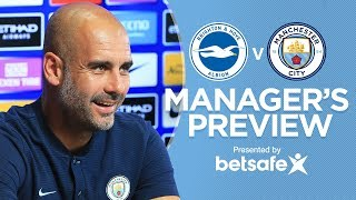 PEP ON TRANSFERS! | Brighton v Man City 17/18 | Guardiola Press Conference