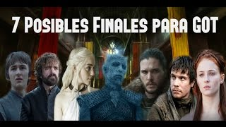7 Posibles Finales para Game Of Thrones