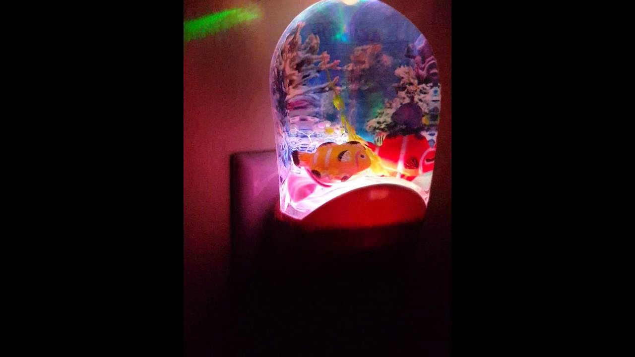 Color Changing Fish Night Light Psychedelic - YouTube