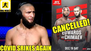 Khamzat Chiamev reacts to his fight getting cancelled after Edwards tests postive for COVID-19,Cody