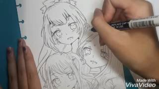 How to color/draw - Mahiru,Yozora (Kasumi) & Hime Shiratori from Aikatsu Stars!