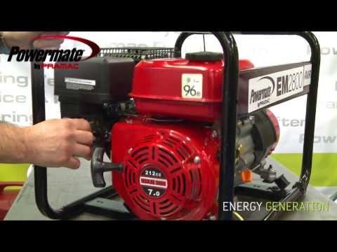 Powermate by Pramac EM2800 Características y Puesta en Marcha