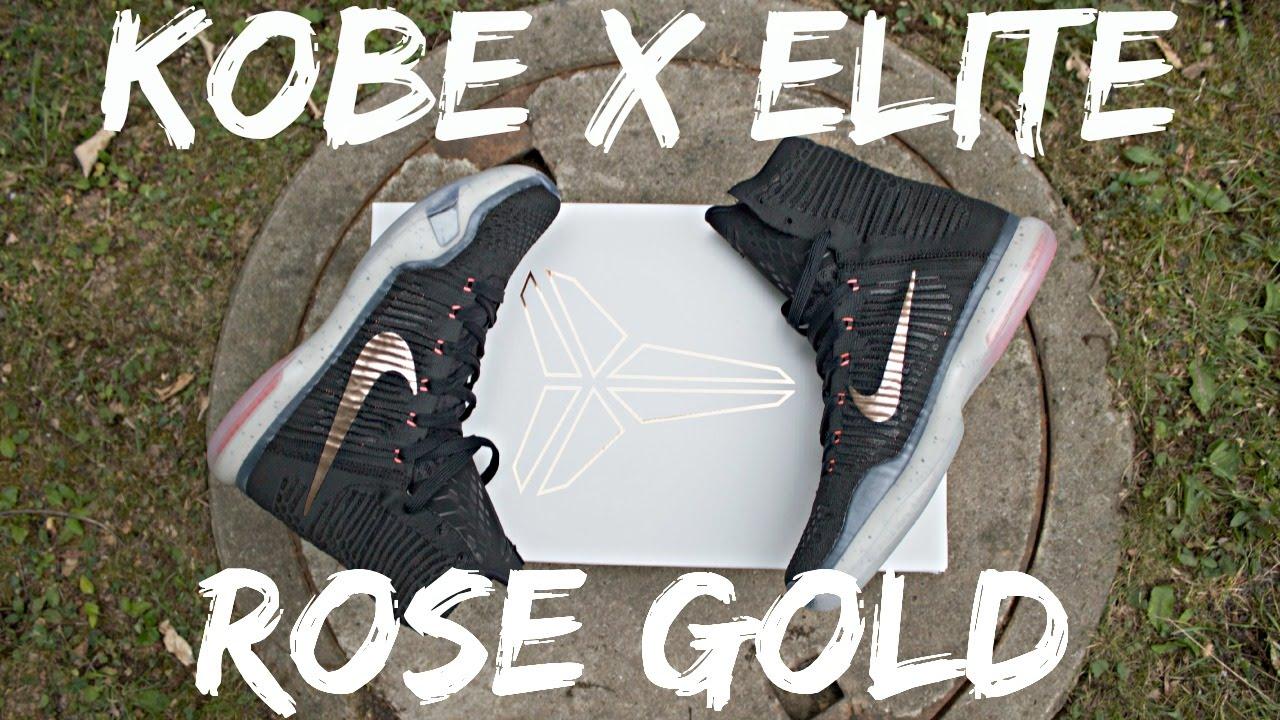 a612ea5ed4f0 Kobe 10 Elite (Rose Gold) on feet+review - YouTube