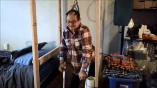 Home made lift for handicapped or disabled     medical hoist medical lift