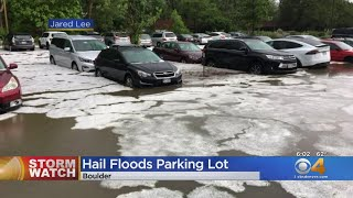 Hail Nails Cars & People In Boulder
