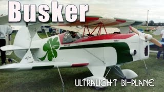 Busker Ultralight Bi-plane, Bee Gee Model D Ultralight Aircraft, By Steve Mahrle.