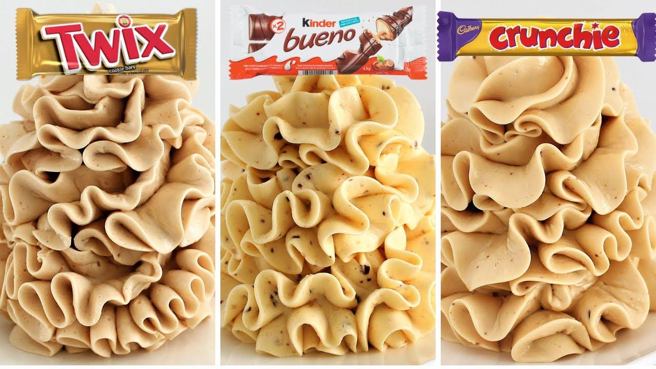 Condensed Milk Buttercream COMPILATION Kinder Bueno Twix Crunchie NO Powdered Sugar Silky Smooth!